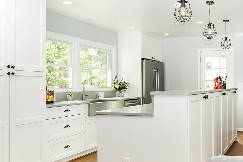 White Kitchen Sliver Sinks