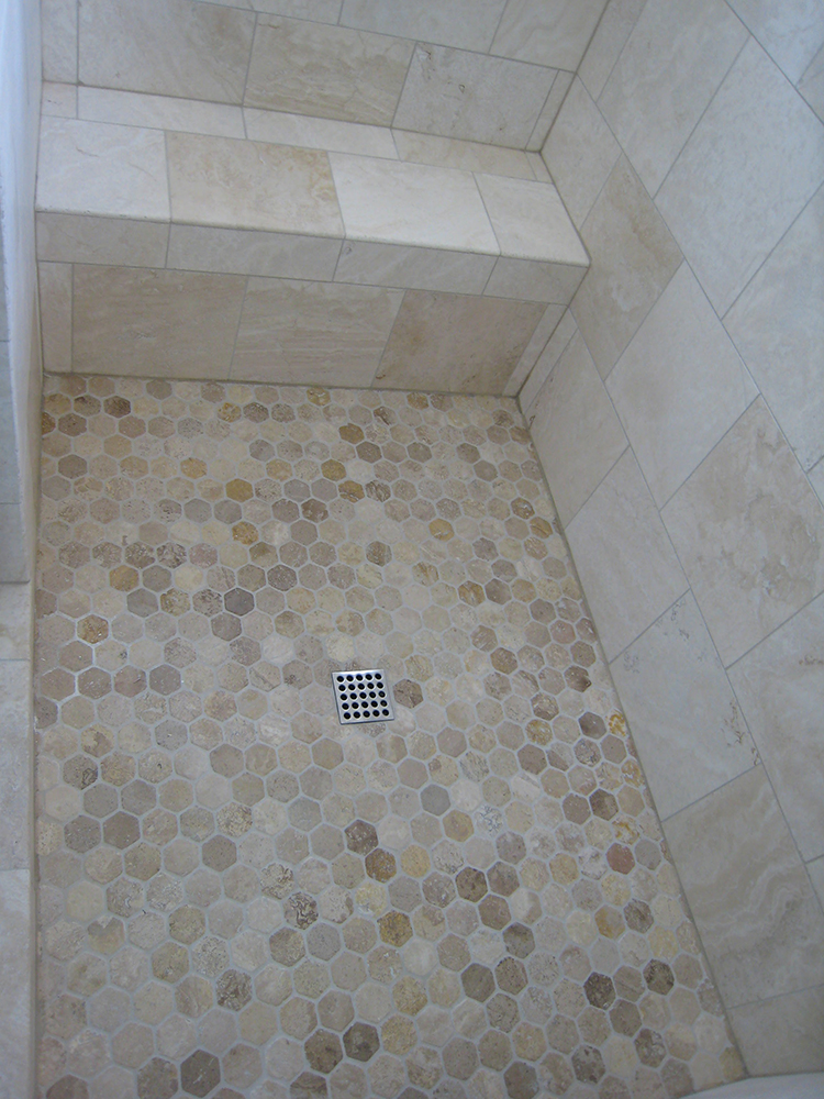 Images Tagged Md Shower Tub Glass Door Tile Mosaic Travertine Stone