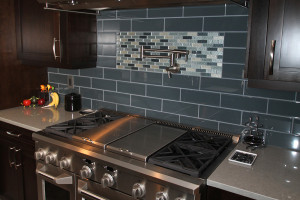 Silver Stove Grey Tile