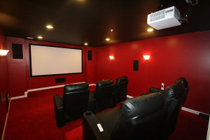 Home Theater Red